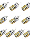 10pcs 1.5W 130-150 lm G4 LED-lampa T 24 lysdioder SMD 2835 Dekorativ Varmvit Vit DC 12 V
