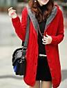 albastru / roșu cardigan / bej, maneca lunga pentru femei Casual