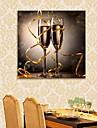 e-FOYER etire conduit toile effet l\'art d\'impression verre de champagne de flash LED
