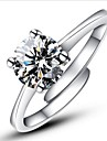 Pentru femei Inele Afirmatoare Inel de logodna Clasic Iubire Ajustabile Modă Deschis Plastic Diamante Artificiale Montaj de Patru