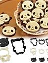 Arnest panda kaka mögel inställd japan tecknad tårta choklad diy stereo bakning verktyg