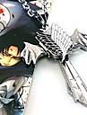 Bijuterii Inspirat de Atac pe Titan Cosplay Anime Accesorii Cosplay Colier Argintiu Aliaj Bărbătesc