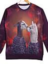 Men\'s Cotton Long Sleeve 3D Animal Printed Autumn Sport Sweatshirts