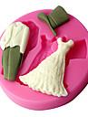 nunta matrite pasta de guma rochie, instrumente de decorare tort