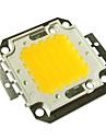 jiawen® 50w 4000-4500lm 3000K varmvit LED-chip (dc 30-33v)