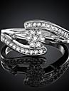 kvinnors silverpläterade ring bröllopsfest elegant feminin stil