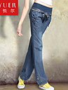 EYUER Women's Clothing 2015 spring loose wide leg pants jeans female elastic waist high code bloomers long pants