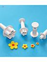 patru-c taietoare floare sugarcraft piston, tort tăiat plastic de proiectare, instrumente de decorare tort clasic