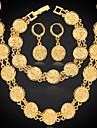 Pentru femei Placat Auriu Set bijuterii Include Σκουλαρίκια Coliere Brățară - Placat cu platină Placat Auriu Aliaj Seturi de bijuterii