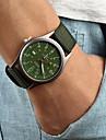 Bărbați Ceas de Mână Quartz Calendar Material Bandă Negru Maro Verde