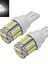 1W T10 Lumini Decorative 10 led-uri SMD 7020 Alb Rece 100-150lm 6000-6500K DC 12V