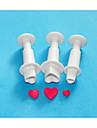 patru-c tort în formă de inimă fondantă de decorare piston de tăiere, instrumente de fondant decor tort stabilite