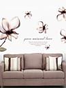 Botanisk Romantik Väggklistermärken Väggstickers Flygplan Dekrativa Väggstickers Material Kan ompositioneras Hem-dekoration