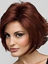 Synthetische Peruecken Glatt / Locken Stil Stufenhaarschnitt Kappenlos Peruecke Rot Weinrot Synthetische Haare 8 Zoll Damen Natuerlicher Haaransatz Rot Peruecke Kurz Natuerliche Peruecke
