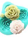4 roses silicone gateau moule outils accessoires de cuisson de cuisine chocolat fondant moule Sugarcraft outils de decoration