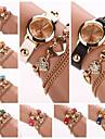 Dial Watch cerc diamate inima trupa cuarț analogice brățară moda pentru femei (Color asortate) c&d291
