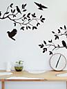 väggdekorationer väggdekaler, stil trädgren fågel pvc väggdekorationer