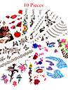10 pcs Temporary Tattoos Waterproof / Non Toxic Paper Tattoo Stickers / Pattern