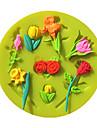 Αγίου Βαλεντίνου αυξήθηκε λουλούδια φοντάν καλούπια κέικ σοκολάτας μούχλα για το ψήσιμο κουζίνα ζάχαρη κέικ εργαλείο διακόσμηση