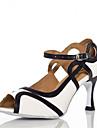Latin - Pantofi de dans (Roșu/Alb) - Non personalizabile - Pentru femei