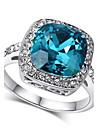 Pentru femei Cristal grup Inel de declarație - Diamante Artificiale 7 / 8 / 9 Albastru Pentru Nuntă / Petrecere / Zilnic
