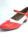Bărbați / Pentru femei Swing Imitație de Piele Călcâi Toc Îndesat Personalizabili Pantofi de dans Negru și Roșu / Albastru / Oranj