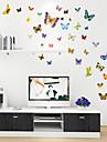autocolante de perete de perete stil decalcomanii dragut de culoare desene animate autocolante de perete fluture pvc