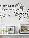 trăiești o singură dată decorațiuni interioare decalcomanii de perete zooyoo8144 decorative autocolante de perete de vinil detașabil