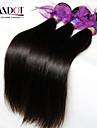 """3st mycket 8-28 """"ryska jungfru hår raka naturligt svart människohår väva buntar härva gratis mjuk hårförlängningar inslag"""