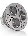 3W GU5.3(MR16) Spot LED MR16 3 LED Haute Puissance 250 lm Blanc Chaud DC 12 V 1 piece