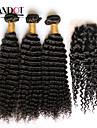 Mongoliskt hår Klassisk Curly Weave Kroppsvågor Hårförlängning av äkta hår 3 delar Hög kvalitet 0.5 Dagligen