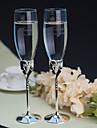 Sticlă fără Plumb Prăjire Flutes 2 Personalizat Cutie de Cadouri