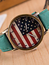 Pentru femei femei Ceas de Mână Quartz Piele PU Matlasată Negru Ceas Casual Analog Charm Modă - Verde Albastru Roz / Oțel inoxidabil