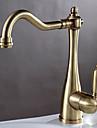Decoration artistique/Retro Bar / accessoires Montage Soupape ceramique 1 trou Mitigeur un trou for  Bronze antique , Robinet de Cuisine
