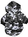 Chat Chien Pulls a capuche Vetements pour Chien camouflage Gris Coton Costume Pour Printemps & Automne Hiver Homme Femme Decontracte / Quotidien Mode
