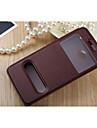 Pour Coque HTC Avec Support Avec Ouverture Clapet Coque Coque Integrale Coque Couleur Pleine Dur Cuir PU pour HTCHTC One M9 HTC One M7