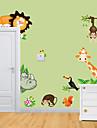 Djur Väggklistermärken Väggstickers Flygplan Dekrativa Väggstickers,Vinyl Material Kan tas bort Hem-dekoration vägg