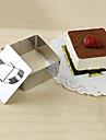 Instrument 3''mousse set de inel spuma cub cu tort brânză mâner împinge mucegai din oțel inoxidabil