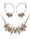 Modern flicka kvinnor mode söta söta smycken kostymer (halsband och örhänge)