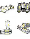 Teso t10 4w dc 11 till 13 v 10st 5630/5730 SMD LED canbus 6000-6500k bred lampa, läslampa, bil registreringsskylt lampa