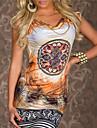 rochie pentru femei de imprimare ocazional (mai multe culori)