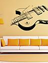 autocolante de perete de perete stil decalcomanii autocolante de perete personalitate chitara pvc