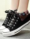 Pantofi pentru femei - Pânză - Toc Plat - Confortabili / Vârf Rotund / Vârf Inchis - Teniși la Modă - Outdoor / Casual -Negru / Albastru