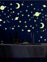 luminos autocolante de perete de perete stil decalcomanii mic univers autocolante de perete pvc