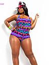 Dame Poliester Spandex Sutiene cu Întăritură Sutiene Fără Burete Push-up Sutiene cu Bureți Cu Susținere,Bikini Floral Monocolor Franjuri