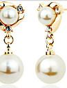 Cercei Picătură La modă bijuterii de lux Perle imitație de diamant Aliaj Culoare ecran Bijuterii Pentru 2pcs