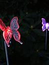 pachet de 2 culori solare schimbare de culoare fluture gradina miza de înaltă calitate