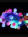 50 lysdioder RGB Uppladdningsbar Dekorativ AC 220-240V