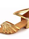 Copii Latin Imitație de Piele Sandale Înăuntru Cataramă Toc Îndesat Argintiu Auriu 3.5cm NePersonalizabili