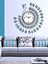 rafinat moderne ceas păun desen de perete - albastru + negru